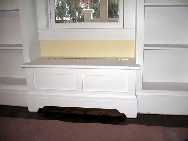 Bench seat with storage - closed position