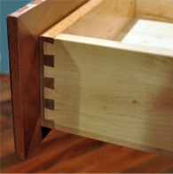 Dovetail joint drawers